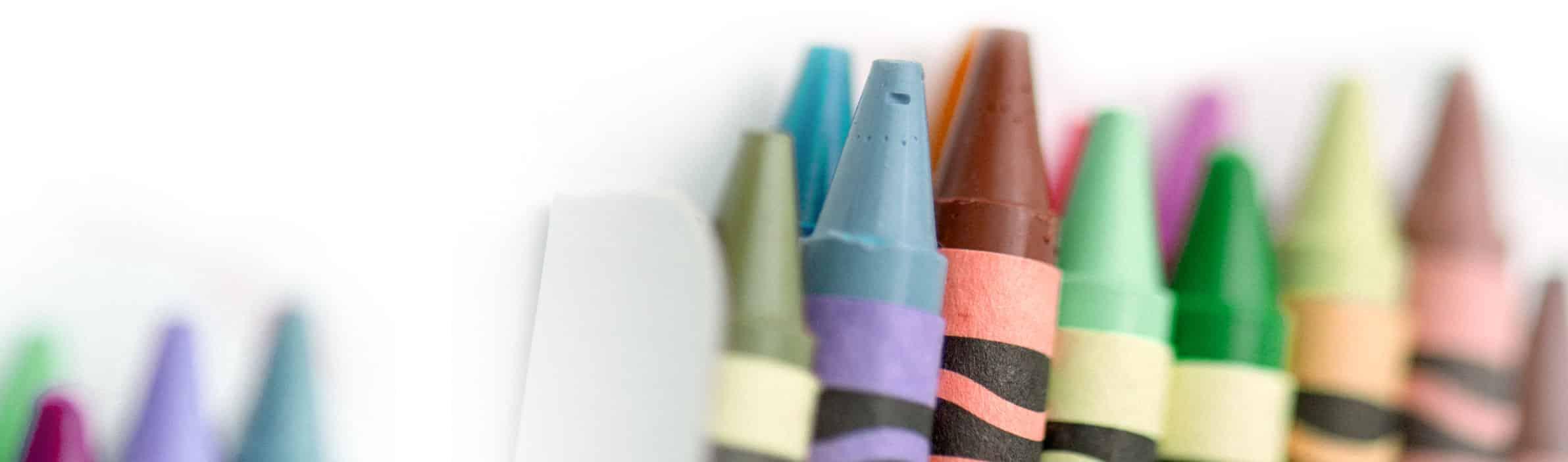close up shot of crayons